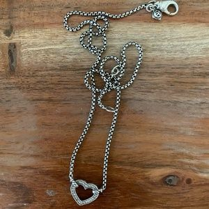 David Yurman Heart Diamond Necklace